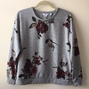 Reitmans Floral Lightweight Sweatshirt